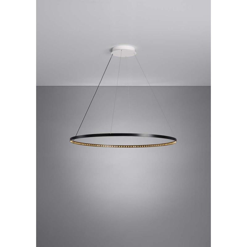suspension circle 80 noire le deun luminaires d co en ligne suspensions lustres design. Black Bedroom Furniture Sets. Home Design Ideas