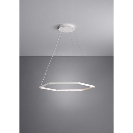 suspension hexa blanche le deun luminaires d co en ligne suspensions lustres design. Black Bedroom Furniture Sets. Home Design Ideas
