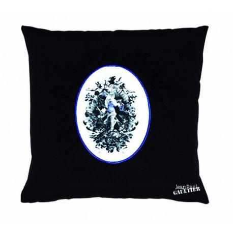 coussin vaporeux noir bleu jean paul gaultier d co en ligne coussins. Black Bedroom Furniture Sets. Home Design Ideas