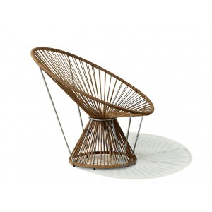 Fauteuil rond Cordula cuir by Missoni Home